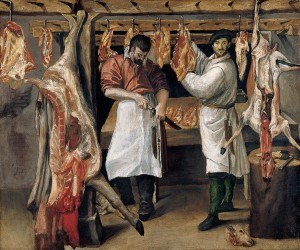 'The_Butcher's_Shop',_oil_on_canvas_painting_by_Annibale_Carracci
